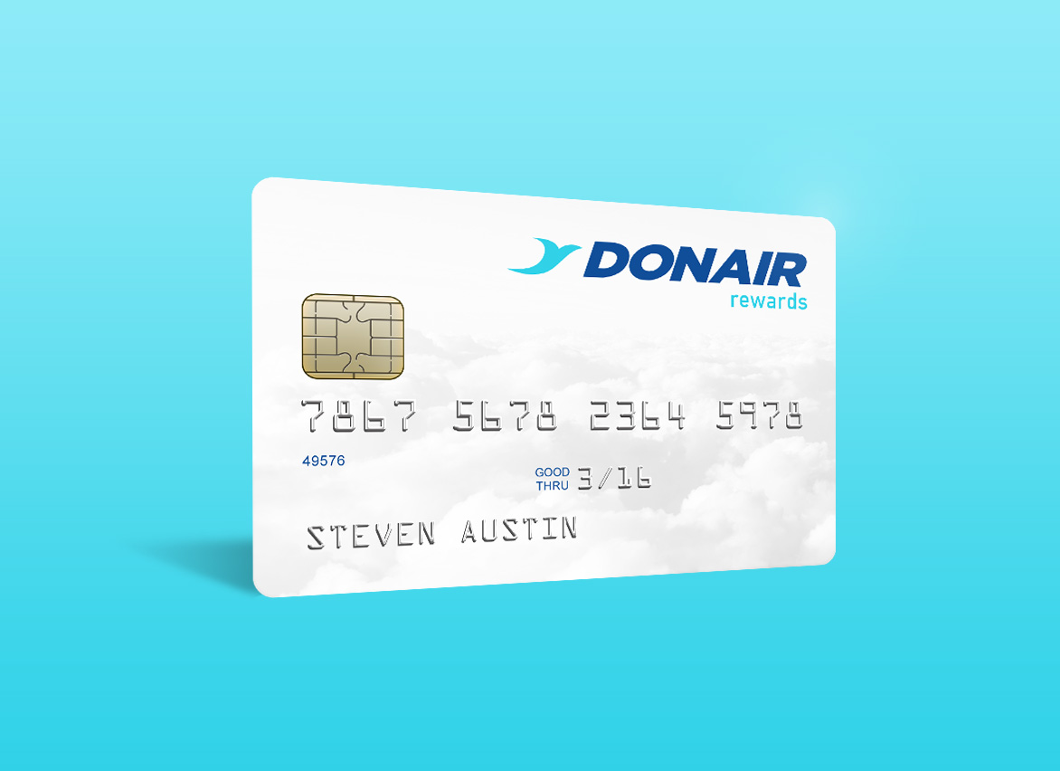 DonAir rewards card